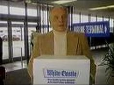 """White Castle - """"She Moved Away"""" (Commercial, 1983) Here's a commercial for White Castle Hamburgers featuring that well-worn tale of a former resident who moved away and missed sliders so much that she had them shipped to her.  This aired on local Chicago TV on Wednesday, March 9th 1983."""