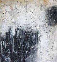 "Saatchi Art Artist Jolina Anthony; Painting, ""connection  black and white original painting by Jolina Anthony"" #art"