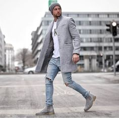 Autumn And Winter   Fashion Pure Color Long Warm Coat Mens Fashion Winter Coats, Big Men Fashion, Best Mens Fashion, Fashion Trends, Stylish Mens Fashion, Fall Outfits, Normcore, Stylish Mens Outfits, Casual Shoes
