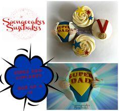 superdad cupcakes - spongecakes suzebakes
