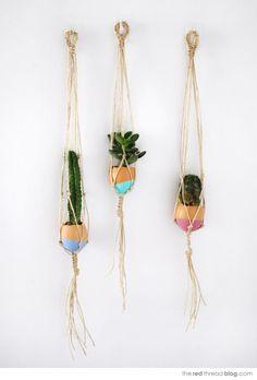 MAKE IT :: mini hanging macrame garden
