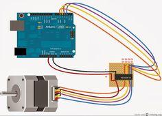 Daniele Alberti, Arduino 's blog: Collegare un piccolo motore passo passo ad Arduino...