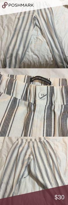 Tiden Pants Navy + white striped pants Brandy Melville Pants Trousers