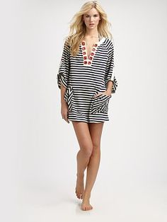 Cute Resort Wear      Milly  Ava Zig-Zag Tunic Cover-Up  $275.00     $104.00