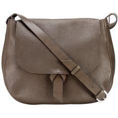 Jigsaw Maud Shoulder Bag, Smoke (3 715 ZAR) ❤ liked on Polyvore featuring bags, handbags, shoulder bags, purse shoulder bag, man bag, leather purses, brown shoulder bag and brown leather purse