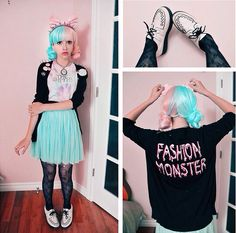 Pastel goth outfits pastel outfit y pastel goth fashion t. Anime Fashion, Fashion In, Kawaii Fashion, Gothic Fashion, Cute Fashion, Pastel Punk, Pastel Goth Fashion, Pastel Grunge, Grunge Fashion