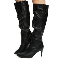 e139a01ba38 Anne Michelle Women s Pledge-45m High Knee High Boot Black ...