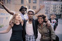 Bronx, N.Y,  Debbie Harry, Fab 5 Freddy, Grandmaster Flash, Tracy Wormworth and Chris Stein. 1981, Photo by: Charlie Ahearn.