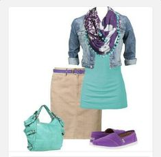 Casual outfit! Love the purple!