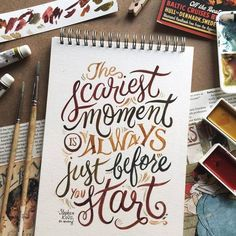 Quotes, calligraphy quotes, types of lettering, typography quotes, calligra Brush Lettering Quotes, Watercolor Lettering, Hand Lettering Quotes, Calligraphy Quotes, Creative Lettering, Calligraphy Letters, Typography Quotes, Typography Letters, Typography Inspiration