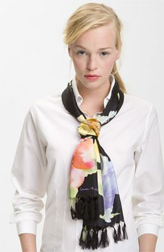 Lauren by Ralph Lauren Floral Silk Scarf available at Nordstrom