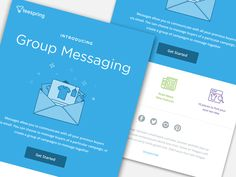 Dribbble - Group Messaging by Kyle Anthony Miller