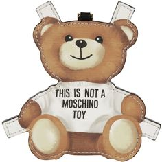 Moschino Teddy Bear Keyring (245 BAM) ❤ liked on Polyvore featuring accessories and moschino