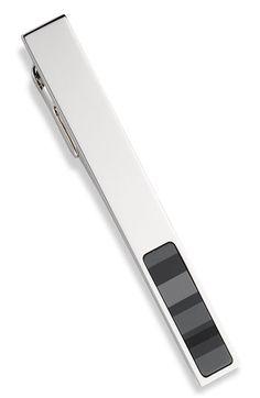 $85 - Hugo Boss - Stainless Steel Tie Bar w/Enamel Inset