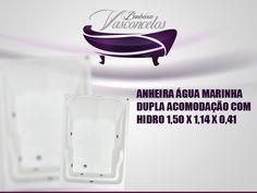 BANHEIRA ÁGUA MARINHA DUPLA ACOMODAÇÃO COM HIDRO 1,50 X 1,14 X 0,41 Com um belo design que oferece conforto e bem estar, a Banheira Água Marinha é fabricada com produtos de alta qualidade e acompanha os seguintes acessórios:     4 Jatos cromadosa 1 Entrada de água 1 Saída de água 1 Entrada de ar (arejador) 1 Sucção 1 Motor bomba 1/3 cv Tubulação de água dos bicos de hidromassagem Tubulação de ar dos bicos de hidromassagem