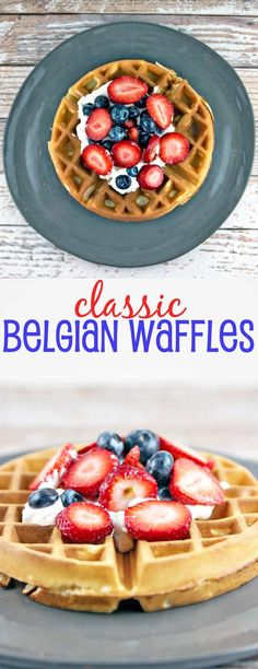 Belgian Waffles: Be a brunch superstar with these light and fluffy classic Belgian waffles. No matter what topping you choose, these waffles are sure to be a big hit. {Bunsen Burner Bakery}