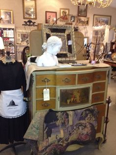 Handpainted French chest of drawers found at Ooh-la-la Leavenworth, Washington.