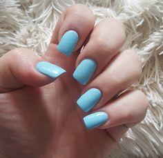 Acrylics with regular nail polish!