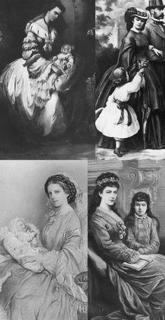 Empress Eilzabeth (Sissi)with her children