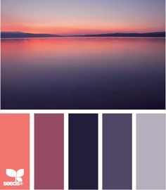Color: Setting Hues by Design Seeds - coral, medium purple, deep purple, purple, lavender.