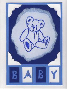 Baby, Teddy Bear, Greeting Card