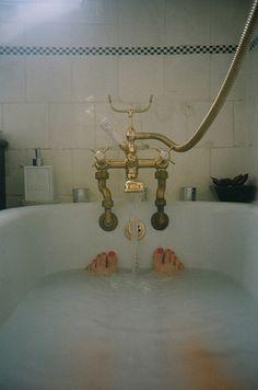 Old fashioned bath.