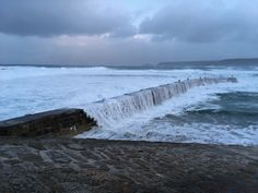 Storm Brian just after high tide this morning 💨🌊💨🌊🌦 #sennen High Tide, Niagara Falls, Cottage, Holidays, Nature, Travel, Holidays Events, Naturaleza, Viajes