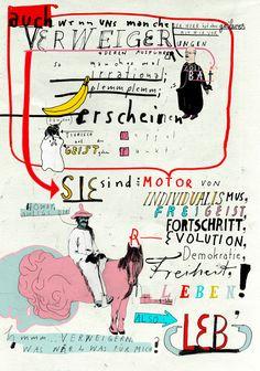 Seite mit Motiven vom Illustrator Graphic Design Posters, Graphic Art, Zine, Lettering, Typography, Editorial Illustration, Cover Design, Plakat Design, Kunst Poster