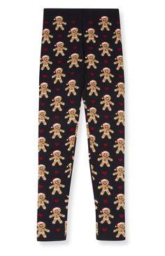 Primark - Christmas Knit Gingerbread Men Leggings