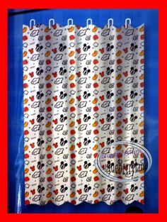 Captivating Disney Mickey Mouse SHOWER CURTAIN Bathroom Accessories Ring Household Q12