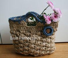 Crochet bag pattern INSTANT DOWNLOAD crochet bag by LuzPatterns