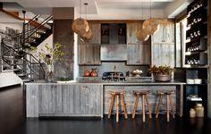 Rustic wooden kitchen in a Manhattan apartment