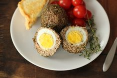 These were really tasty. I've never had a real scotch egg, but we liked these!