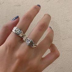 Hand Jewelry, Cute Jewelry, Jewelry Rings, Jewelery, Silver Jewelry, Jewelry Accessories, Funky Jewelry, Chunky Silver Rings, Sterling Silver Rings