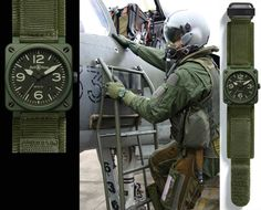 Fighter pilot military style watches from Bell Ross Best Watches For Men, Vintage Watches For Men, Luxury Watches For Men, Cool Watches, Unique Watches, Affordable Watches, Expensive Watches, Fancy Clock, Military Fashion