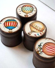 Hot Air Balloon Wood Boxes The Best Way To Travel Set by Mmim, $44.00