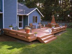 decks with benches - Google Search