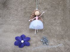Ballerina Ornament Miniature Dancer Doll Dance by HarmonCraftStore