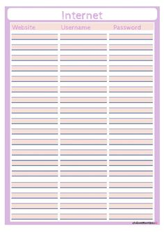 Printables Password Worksheet owl on pinterest atelier mama bee wachtwoorden overzicht password free printable