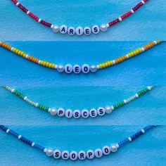 Bracelet Patterns, Bracelet Designs, Necklace Designs, Handmade Beaded Jewelry, Handmade Bracelets, Beaded Bracelets, Pulseras Kandi, Ring Armband, Diy Necklace