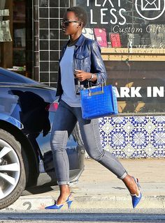 Pin for Later: Lupita Nyong'o Just Changed Our Minds About Kitten Heels She Color-Coordinated Like a Pro