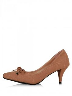MY FOOT Kitten Heel Pumps With Bow Detailing by KOOVS.COM