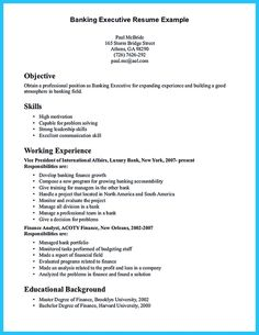 Nice One Of Recommended Banking Resume Examples To Learn, Check More At  Http:/