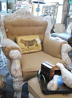 burlap chair - LOVE this, but would use creamy denim rather than scratchy burlap!