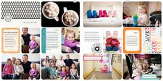 Project Life layout by Jennifer Woodbury.  Focus is on the photos, with a clean and simple design.