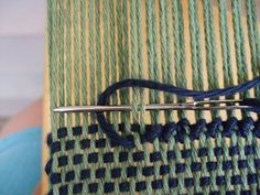 How to Hem Stitch for Weaving – Chris Brandt – weberei Weaving Tools, Tablet Weaving, Weaving Projects, Weaving Art, Weaving Patterns, Tapestry Weaving, Loom Weaving, Hand Weaving, Stitch Patterns
