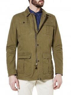 Military jacket with patch