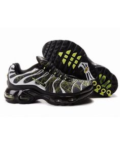2016 Nike Air Max TN Mens Trainer Black White Green Sale
