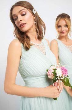 Csipkés esküvői ruha - Zöld