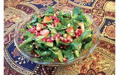Spinach & Pomegranate Salad